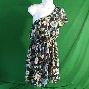 HP Eliza j. 4P floral one shoulder dress